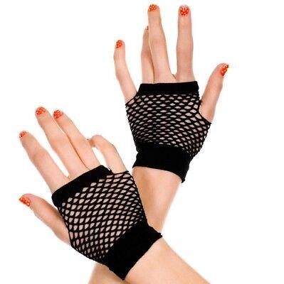 Fingerless Gloves Fence Net Fishnet Arm Warmers Punk Rock Goth 80s Halloween