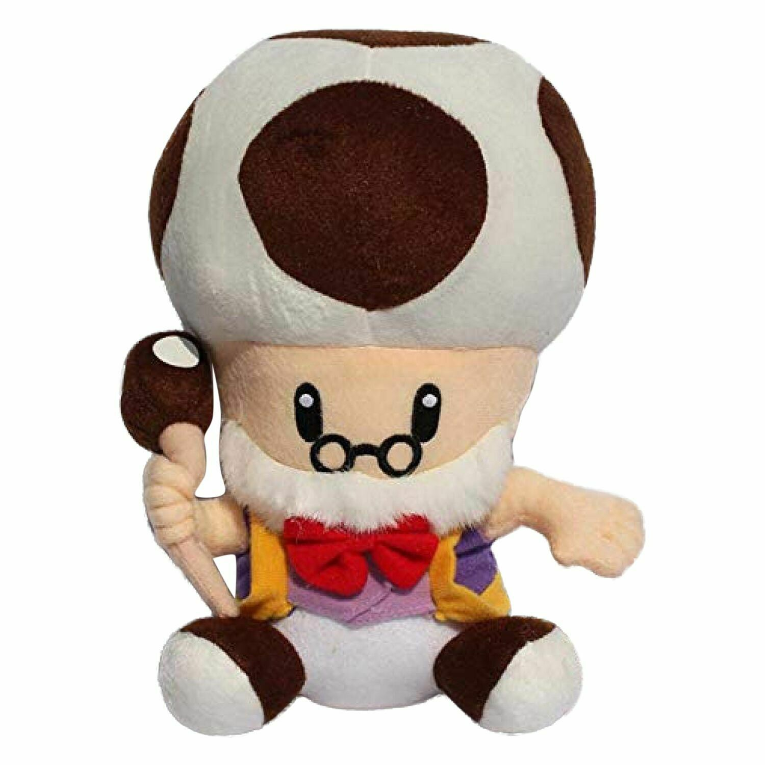 Mario Bro 10 Inch Mushroom Brown Toadsworth Plush Toad Doll For