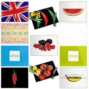 Charmant Details About Glass Chopping Board Large Kitchen Cutting Food Serving  Worktop Saver Protector