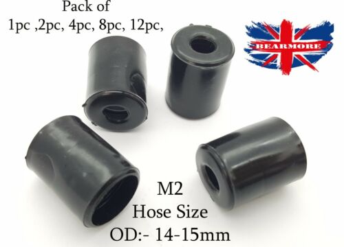 15MM Hose End Finisher Rubber Fuel Oil Water Pipe with Clip Clamp Hose OD 14mm