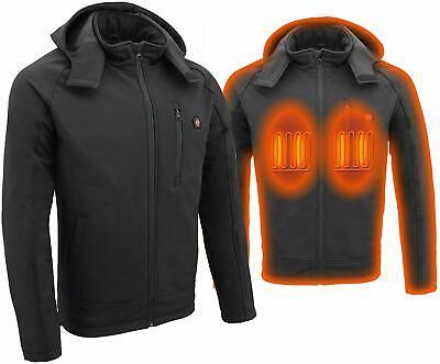 Milwaukee Performance Mens Zipper Front Heated Soft Shell Jacket Black, XL