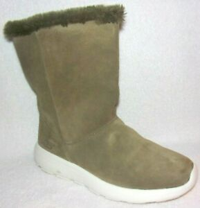 Faux Fur Boots Stunning Olive 8.5 W