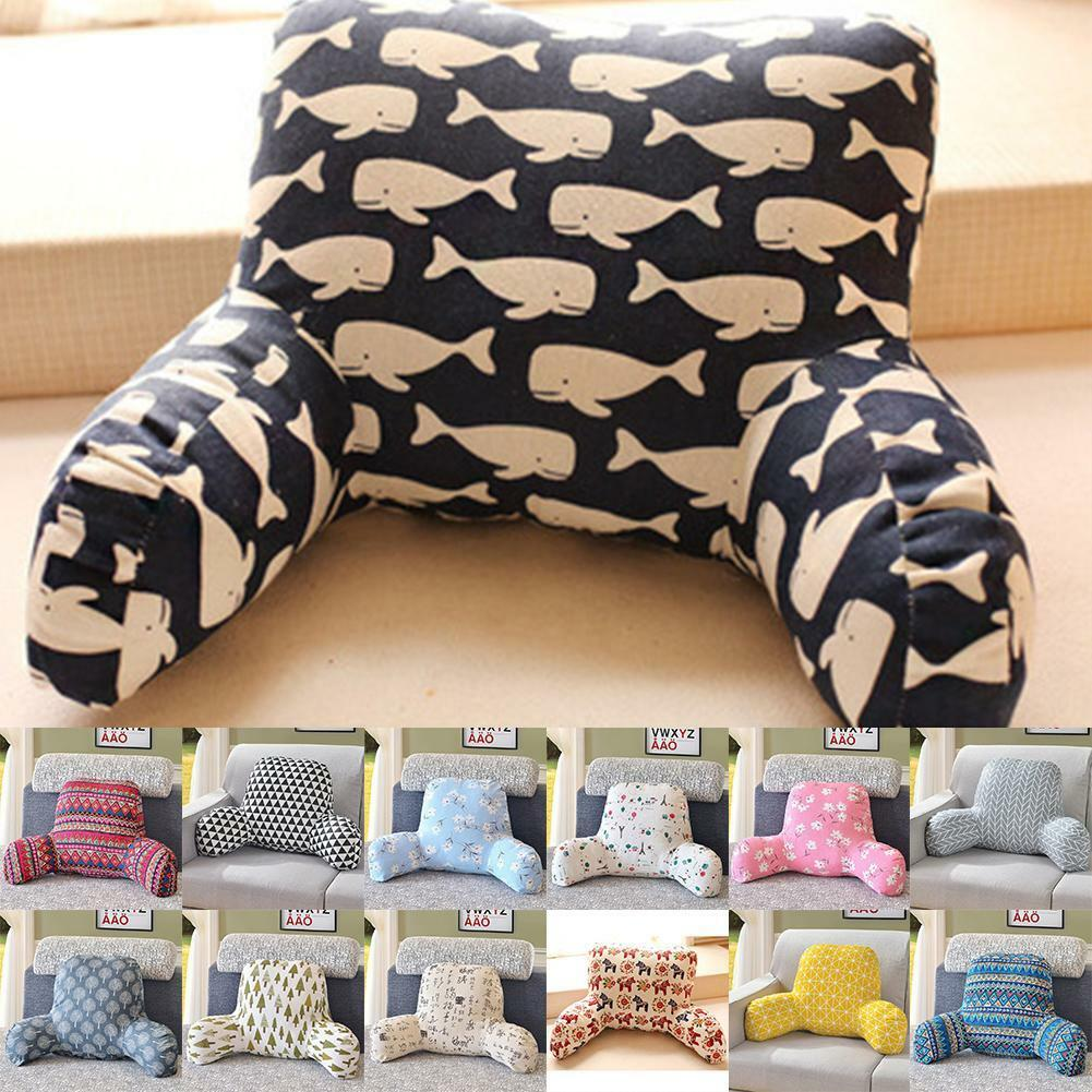 Details About Bed Rest Back Pillow Arm Soft Cushion Support Chair Bedroom Tv Relax Reading