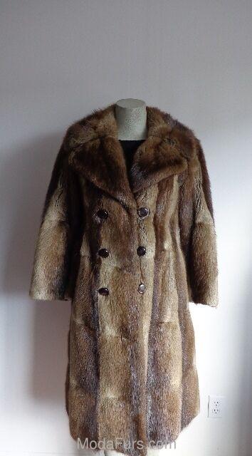 Women's Sz 6 Mint Muskrat Fur Coat MUSKRAT CLEARANCE SALE
