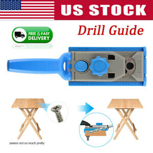 Woodworking-Kreg-Pilot-Pocket-Hole-Jig-Wood-Joiner-Hole-Saw-Drill-Guide-DIY-Kit