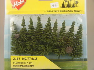 Tannen - 9 Pièces-arbres - 5 à 7 Cm-heki 2151 #e-afficher Le Titre D'origine