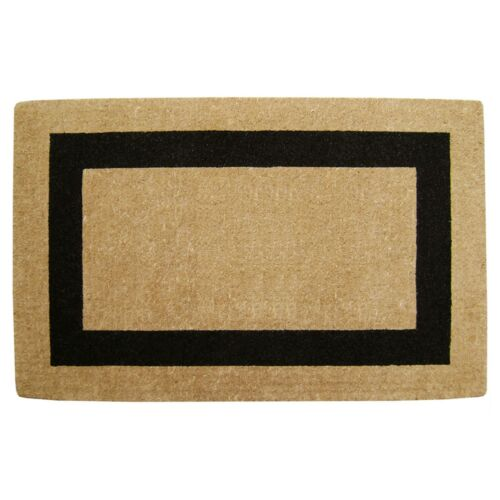 """30/"""" x 48/"""" - Accentuary Welcome Mat Heavy Duty Coir Mat Single Picture Frame"""