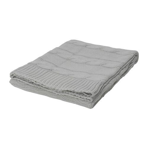 Ikea ursula plaid gris; 100/% COTON; couverture couverture plaid 120cm x 180cm