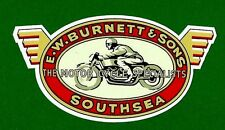 VINTAGE RETRO CAFE RACER UK Vinyl Decal Sticker MOTORCYCLE INDIAN ARIEL BSA POPE
