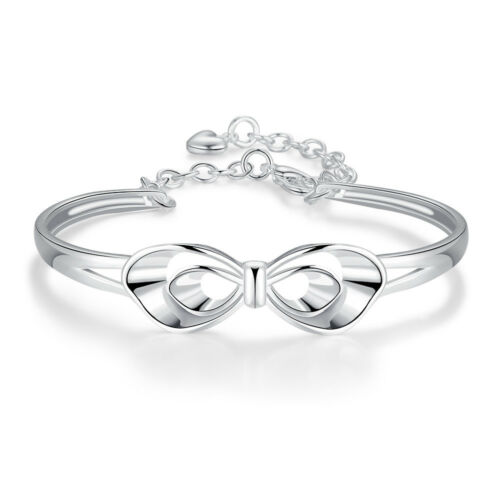 15 Type Women/'s Fashion Jewelry 925 Silver Flower Women Bracelet Men Cuff PB04