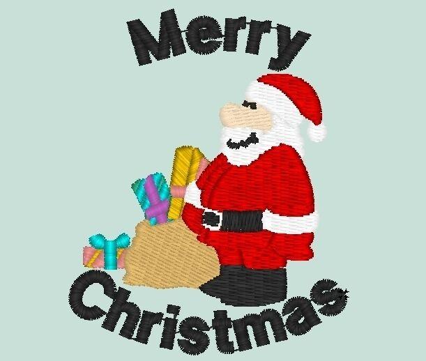 Santa with Sack embroidered on Polo Shirt