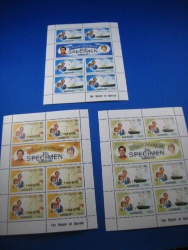KIRIBATI - SCOTT # 373-378 - SPECIMEN MINI SHEETS - MNH