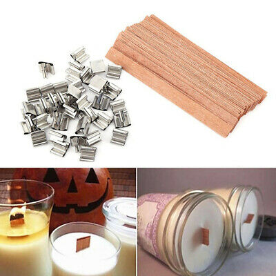 Party Wax Candle Core Cotton Wick Square Braid Candlestick Sustainer Tabs
