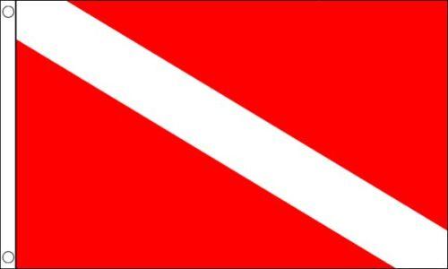 90cm x 60cm Scuba Diving Hard Wearing 100/% Nylon Flag 3ft x 2ft