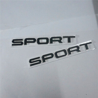 1x Metal Black range SPORT Badge Emblem rover land Decal Engine 3D discovery suv