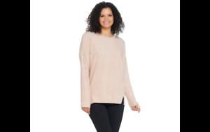 Cuddl-Duds-Fleecewear-Stretch-Long-Sleeve-Pullover-Top-Oatmeal-Hthr-XL-A293093