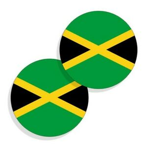 Guyana Flag Stickers Flag Decals Vinyl Round Indoor Outdoor Circles 4 pack
