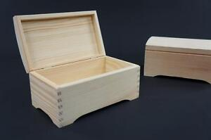 1-x-Plain-Wooden-Jewellery-Treasure-Chest-Keepsake-Box-Trinket-Storage-PSN20
