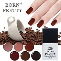 10ml BORN PRETTY Nail Art UV/LED Gel Polish Soak Off Coffee Manicure Varnish