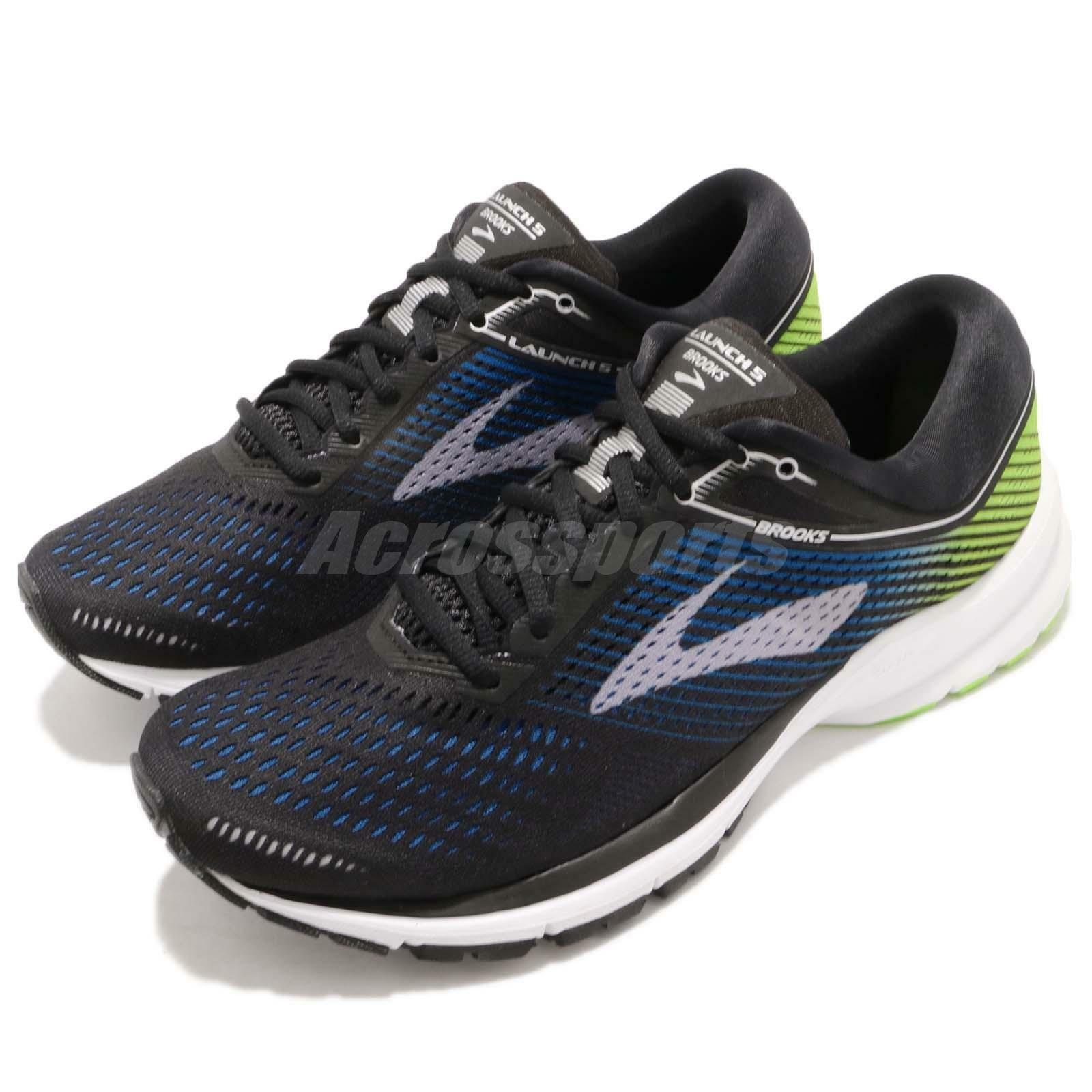 Brooks Launch 5 negro azul verde blanco Men Running Training zapatos 110278 1D