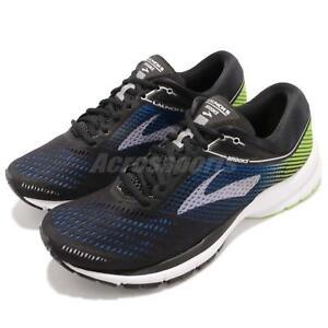 Brooks Launch 5 Noir Bleu Blanc Vert Hommes Running Training Chaussures 110278 1D