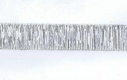 2 mètres filaire Noël Métallique Ruban Argent 21 mm Large