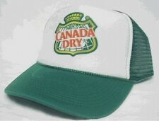 Canada Dry Trucker Hat mesh hat snapback hat green