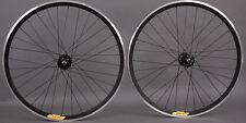 Velocity Deep V ALL BLACK Fixed Gear Track Bike Wheels Wheelset Singlespeed