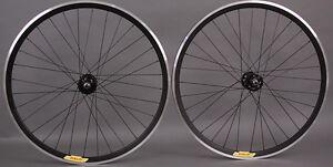 Velocity-Deep-V-ALL-BLACK-Fixed-Gear-Track-Bike-Wheels-Wheelset-Singlespeed