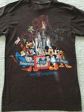 Walt Disney World WDW 40th Anniversary T Shirt Medium EUC Dark Gray