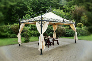 pavillon rechteckig partyzelt metallpavillon gartenlaube. Black Bedroom Furniture Sets. Home Design Ideas