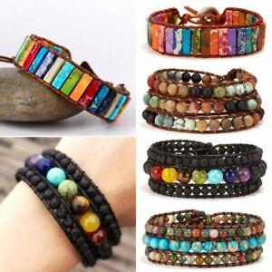Natural-Stone-Lava-Healing-Chakra-Bracelet-Vintage-Beaded-Bangle-Women-Jewellery