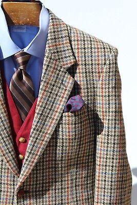 Paul Smith 40S Gentleman's Grey, Red, & Blue Check Tweed Sport Coat - $1,040.00!