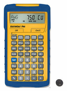 Calulated Ind. ElectriCalc Pro Calculator 5070 w/Case & Spare CR2016 Battery