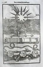 Vegetius Végèce de l'art militaire Kriegskunst Kanonen Re Militari Original 1535