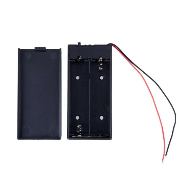3.7V 2x 18650 Battery Holder Connector Storage Case Box ON/OFF Switch With  H7N6