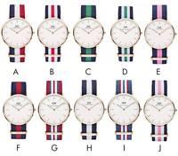 New Daniel Wellington Classic DW Wristwatch Watch Gold/Silver Nylon UK SELLER