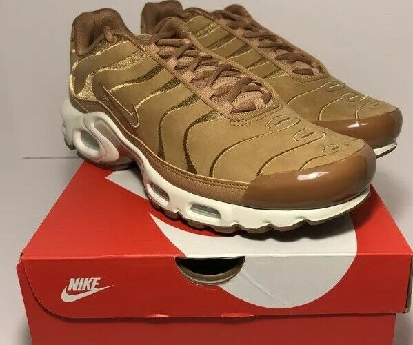 Nike Air Max Plus TN Tuned 1 EF Wheat Flax Suede Sail White Sz 14 AH9697-201