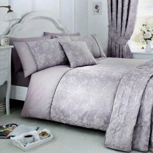 Serene 'Jasmine' Woven Jacquard Duvet Set - Lavender (Single)