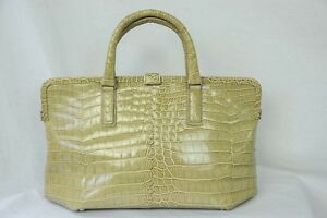 42472a68db76d Image is loading BOTTEGA-VENETA-Crocodile-Leather-Large-Bag-Framed-Handbag-