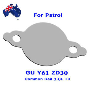 Details about EGR Blanking Plate For Nissan Patrol GU Y61 ZD30 TD CRD No  Hole