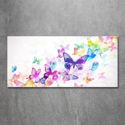 Glas-Bild Wandbilder Druck auf Glas 120x60 Deko Tiere Bunte Schmetterlinge