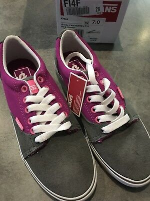 SNEAKERS VANS Kress Chaussures Femme Toile Daim Noir Liberté Baskets Violets | eBay
