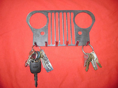 Metal Jeep key holder CJ XJ YJ TJ Wrangler