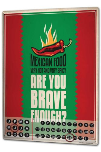 Calendrier perpétuel Restauration Cuisine mexicaine métal