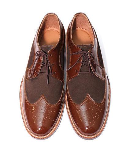 MEN HANDMADE FORMAL LEATHER Schuhe OXFORD CHOCOLATE & DARK BROWN OXFORD Schuhe DESIGN Schuhe 5e1191