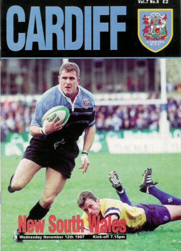 CARDIFF v NEW SOUTH WALES 12 Nov 1997 RUGBY PROGRAMME