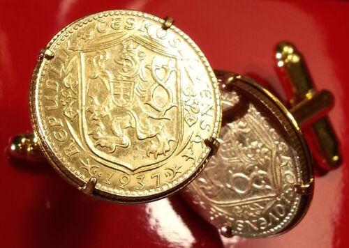Box! Details about  /1937 Gold Dukat Czech Lion w// Slovak Shield Czechoslovakia Coin Cufflinks