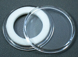 25 Air-Tite 18mm White Ring Coin Holder Capsules for Dimes