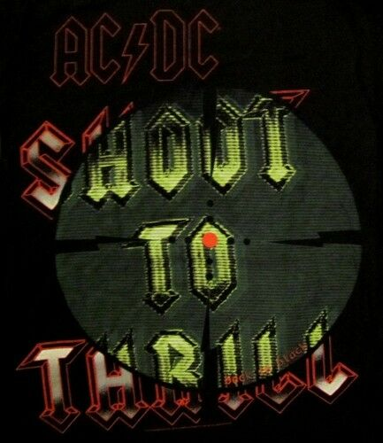 AC/DC cd lgo SHOOT TO THRILL Official BABYDOLL SHIRT MED New back in black